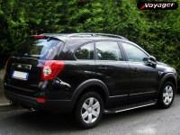 Пороги OLYMPOS чёрные на Chevrolet Captiva