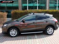Пороги Voyager Hitit Silver на Nissan Qashqai