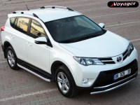 Пороги HITIT SILVER на Toyota Rav 4 с 2013